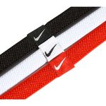 هد بند نایک - Nike Elastic Hairbands Black/White/University Red