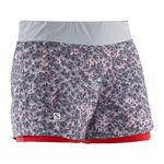 شورت ورزشی زنانه سالومون - Salomon Park 2In1 Short W Light Onix Infrared