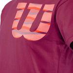 تی شرت تنیس مردانه ویلسون - Wilson Shoulder W Cotton Tee Purle/Fiesta