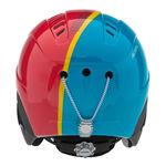 نمای پشت هلمت اسکی بچه گانه آلپینا - Alpina Carat Red-Blue-Asym 51-55
