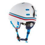 نمای پشت هلمت اسکی بچه گانه آلپینا - Alpina Park Pro Jr White-Blue Matt 50-54