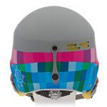 نمای پشت هلمت اسکی بچه گانه آلپینا - Alpina Spam Cap Jr Grey-Pink Matt 50-54