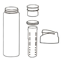 قمقمه دتاکس گرین کمپ - Green Camp Detox Water Bottle