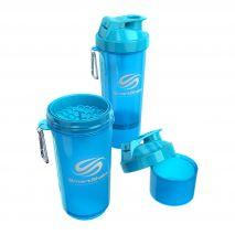 شیکر 500 میلی لیتری رنگ آبی اسمارت شیک - Smart Shake Slim Bottle Blue 500ml