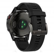 ساعت فنیکس 5 با بند سیلیکونی گارمین - Garmin Fenix 5 Grey Silicon Band