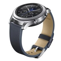 بند چرمی ساعت گیر اس 3 سامسونگ - Samsung Gear S3 Classic Leather Band Navy Blue