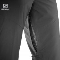 شلوار اسکی مردانه سالومون - Salomon Fantasy Pant M Black Heather