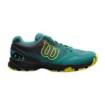 کفش تنیس مردانه ویلسون - Wilson Men`s Kaos Comp Tropic Gr/Bk/Safety Yel