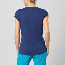 تی شرت ورزشی زنانه سالومون - Salomon X Wool SS Tee W Medieval Blue