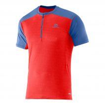 تی شرت ورزشی مردانه سالومون - Salomon Minim Evac Zip Tee M Matador-X/Midnbl