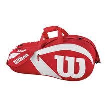 ساک تنیس ویلسون - Wilson Match III 6 Pack Red/White Tennis Bag