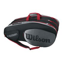 ساک تنیس ویلسون - Wilson Team III 12 Pack Black/Grey Tennis Bag