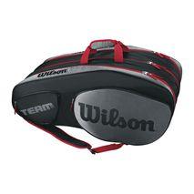 ساک تنیس ویلسون - Wilson Team III 12 Pack Black/Grey Tennis Bag