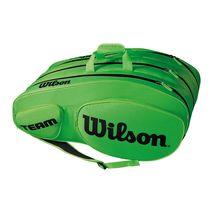 ساک تنیس ویلسون - Wilson Team III 12 Pack Green/Black Tennis Bag