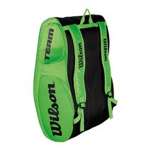 ساک تنیس ویلسون - Wilson Team III 12 Pack Green/Black Tennis Bag