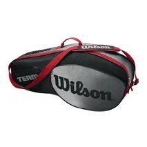 ساک تنیس ویلسون - Wilson Team III 3 Pack Black/Grey Tennis Bag