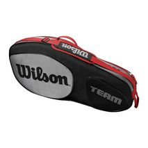 ساک تنیس ویلسون - Wilson Team III 3 Pack Black/Grey Tennis Bag