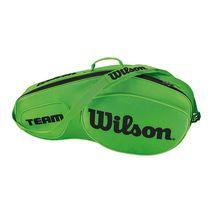 ساک تنیس ویلسون - Wilson Team III 3 Pack Green/Black Tennis Bag