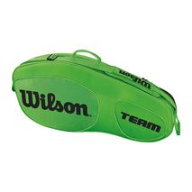 ساک تنیس ویلسون - Wilson Team III 3 Pack Green/Black Tennis Bag