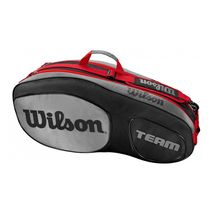 ساک تنیس ویلسون - Wilson Team III 6 Pack Black/Grey Tennis Bag