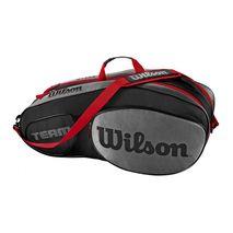ساک تنیس ویلسون - Wilson Team III 6 Pack Black/Grey Tennis Bag