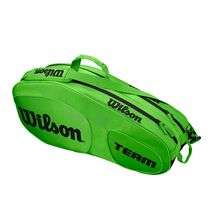 ساک تنیس ویلسون - Wilson Team III 6 Pack Green/Black Tennis Bag
