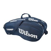 ساک تنیس ویلسون - Wilson Team III 6 Pack Blue/White Tennis Bag