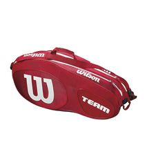 ساک تنیس ویلسون - Wilson Team III 6 Pack Red/White Tennis Bag