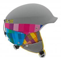 هلمت اسکی بچه گانه آلپینا - Alpina Spam Cap Jr Grey-Pink Matt 50-54