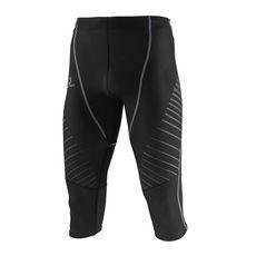 شلوار استرچ ورزشی مردانه سالومون Salomon Endurance 3/4 Tight M Black/Flou Orange