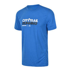 تی شرت ورزشی مردانه سالومون Salomon Citytrail Graphic Tee M Union Blue