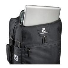 نمای محفظه لپ تاپ چمدان 70 لیتری سالومون - Salomon Bag Container Cabin Black Laptop Padded Compartment