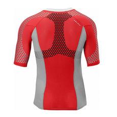 تی شرت ورزشی مردانه سالومون - Salomon Exo S-Lab Zip Tee M White/Aluminum