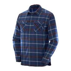 پیراهن مردانه سالومون - Salomon Boundless Flannel Ls Shirt M Strong Blue