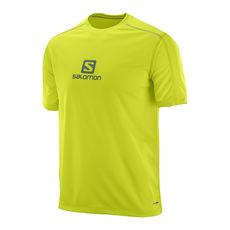 تی شرت ورزشی مردانه سالومون - Salomon Stroll Logo SS Tee M Lime Punch