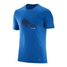 تی شرت ورزشی مردانه سالومون - Salomon Explore Graphic SS Tee M Prince Blue