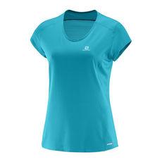 تی شرت ورزشی زنانه سالومون - Salomon Comet Plus Ss Tee W Enamel Blue