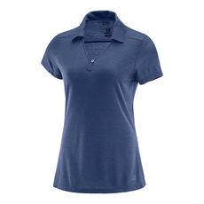 تی شرت ورزشی زنانه سالومون - Salomon Ellipse Polo W Deep Cobalt