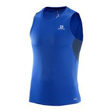 رکابی ورزشی مردانه سالومون - Salomon Agile Tank M Surf the web/Dress Blue