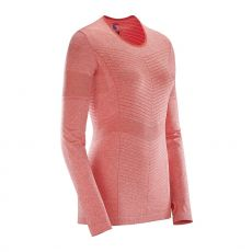 پیراهن ورزشی زنانه سالومون - Salomon Elevate Seamless Ls Tee W Hot Coral