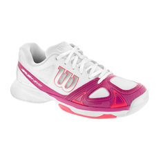 کفش تنیس زنانه ویلسون - Wilson Rush Evo Wh/Fiesta Pin/Neon Red W Tennis Shoes