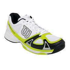 کفش تنیس مردانه ویلسون Wilson Rush Evo Coal Wil/Wilson Red/Bk Tennis Shoes
