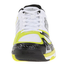 کفش تنیس مردانه ویلسون - Wilson Rush Evo Wh/Solar Lime/Bk Tennis Shoes