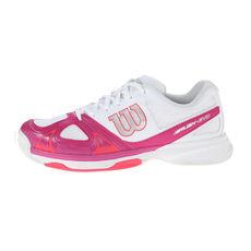 کفش تنیس زنانه ویلسون Wilson Rush Evo Wh/Fiesta Pin/Neon Red