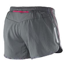 نمای جلو شورت ورزشی زنانه سالومون - Salomon Agile Short W Galet Grey Hot Pink