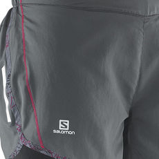 شورت ورزشی زنانه سالومون - Salomon Agile Short W Galet Grey Hot Pink